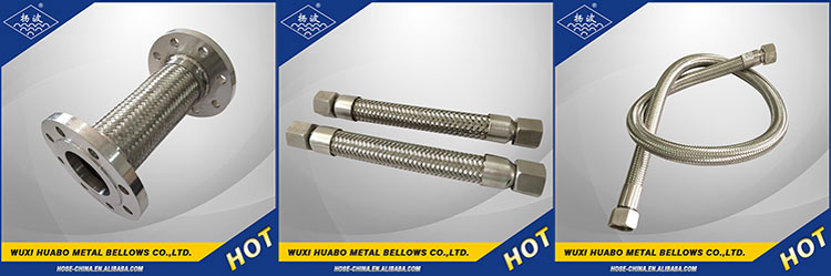 Supply Yangbo stainless steel corrugated flexible metallic hose