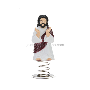 customized plastic Jesus dashboard figurines for cars,custom design dashboard figurine with springs