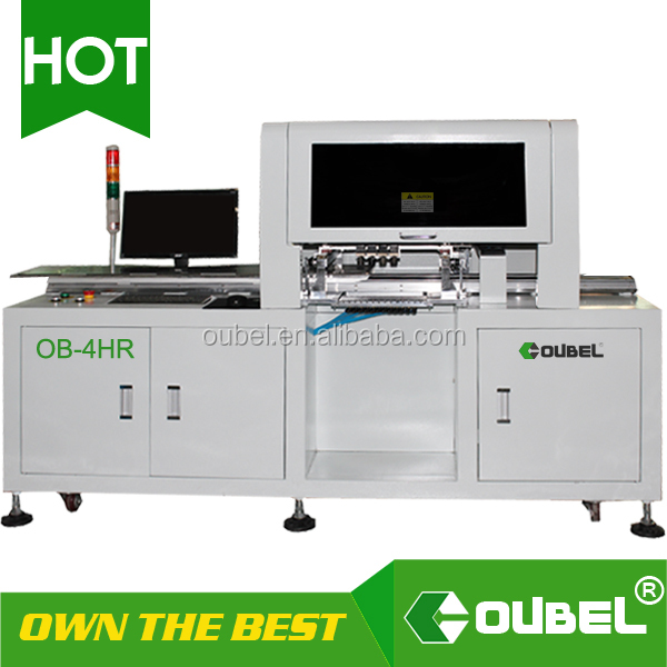 OBSMT high speed smd pick and place machine for LED tubes PCB assembly 4 heads LED pick and place machine