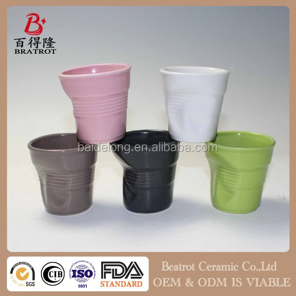 Beatrot Ceramic new style crinkle cups Small crinkle coffee cups