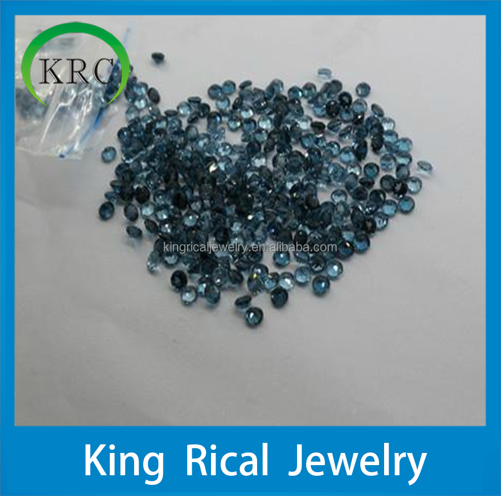 Wholesale high quality natural london blue topaz gemstones
