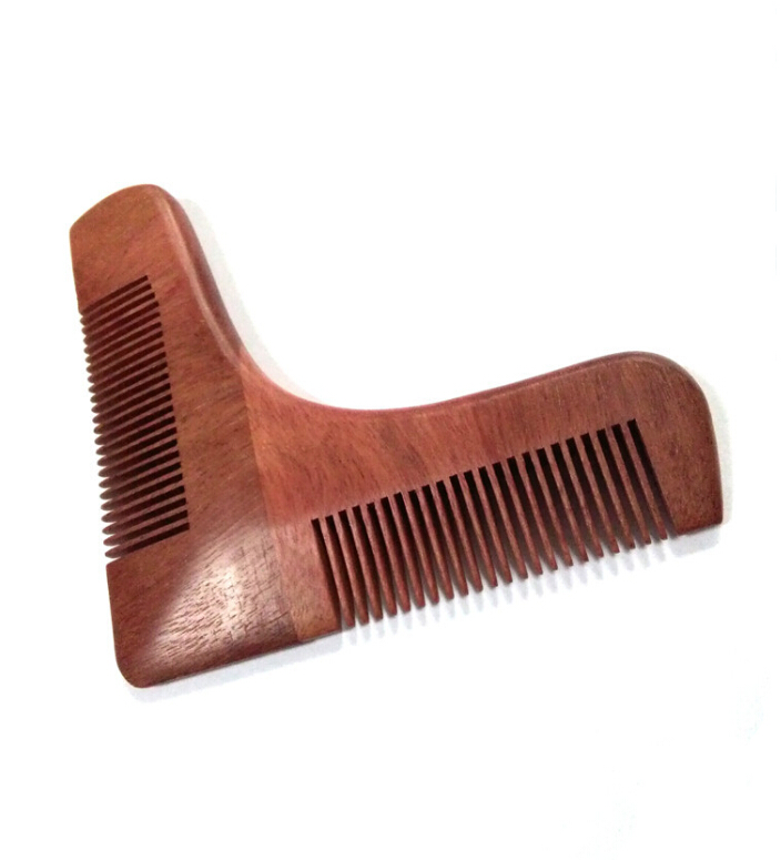 red sandalwood wooden beard shaper tool facicl hair shaping tool beard shaping tool beard comb