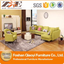 FOSHAN Brand Living Room Furniture modern Design Sofa Fabric rich color sofa with leisure chair boy03