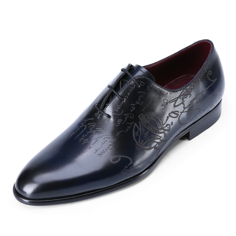 TERSE Italian calfskin leather Oxford shoes for men 100% handmade dress shoes with wholesale price