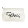 Wholesale high quality fashion canvas cosmetic bag with zipper lock