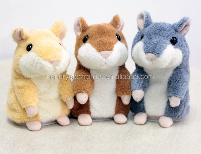 Promotion Gift x hamster animals with recorder,Plush toy talking hamster