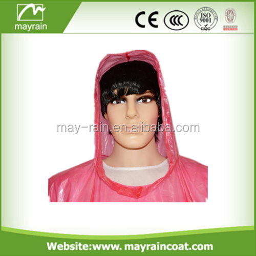 2017 Summer Mayrain OEM Promotion Disposable Rain Poncho