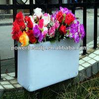 2013 cheap waterproof rectangular plastic pots for plants&remote control&colorchanging&roto molded/OEM