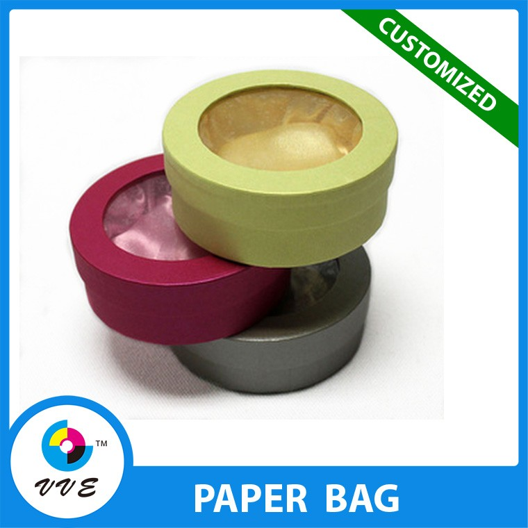 Gift & Craft Industrial Use and Recyclable Feature paper box with clear plastic cover for wedding