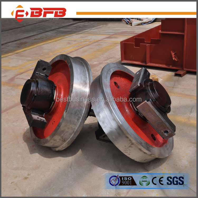 Heavy load capacity 500mm OEM rail car forged steel wheel for sale