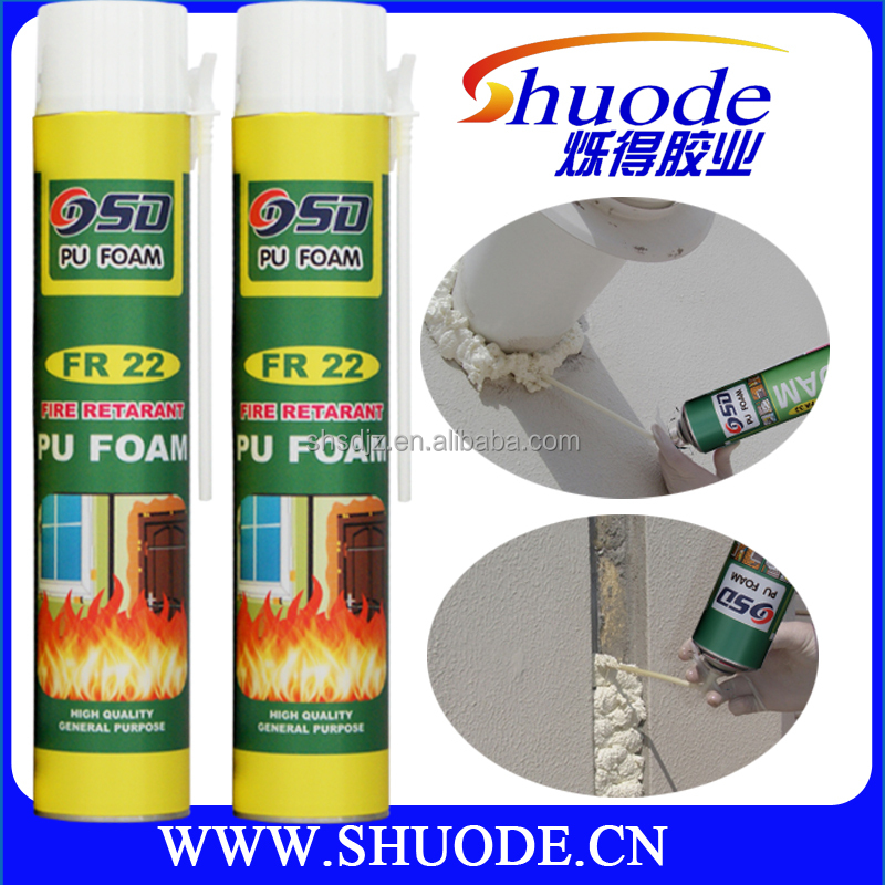 Aerosol cans polyurethane foam sealant using environmental material apply to winter
