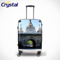 20'' 24'' 28'' Women Travel Trolley ABS+PC OEM Personalized Luggage Sets/Colorful Zipper Luggage, Lady Trolley Luggage
