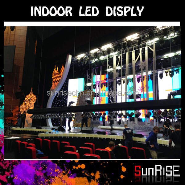 Advertising Super Slim Aluminum indoor full colo flexible transparent oled display stage background led display big screen