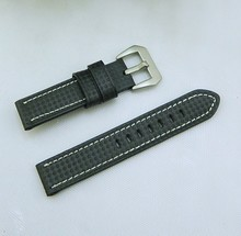square print leather quality watch band, handmade color watch strap