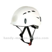 HT-0802-WT Light-weight White Black Blue Red PP Plastic Adjustable Rock Climbing CE UIAA Certified Helmet
