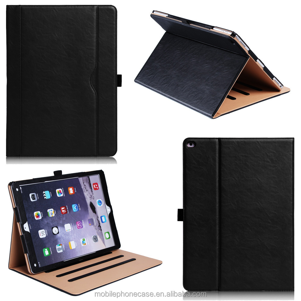 2016 Guangzhou Hot New Design Consumer Electronic Products Best Quality Stand and flid Case For Apple ipad pro 12.9 inch