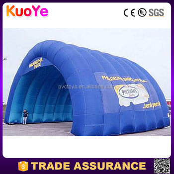 china manufacture blue inflatable large tent for sale