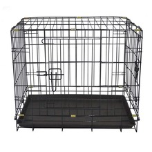 Folding wire matel dog cage,dog transport cage metal transport box