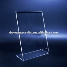 Plastic Acrylic A4 Paper Size Acrylic Sign Holder