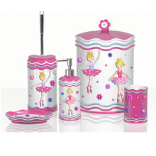 Modern Girl Style Pink Bathroom Accessory Bathroom Set