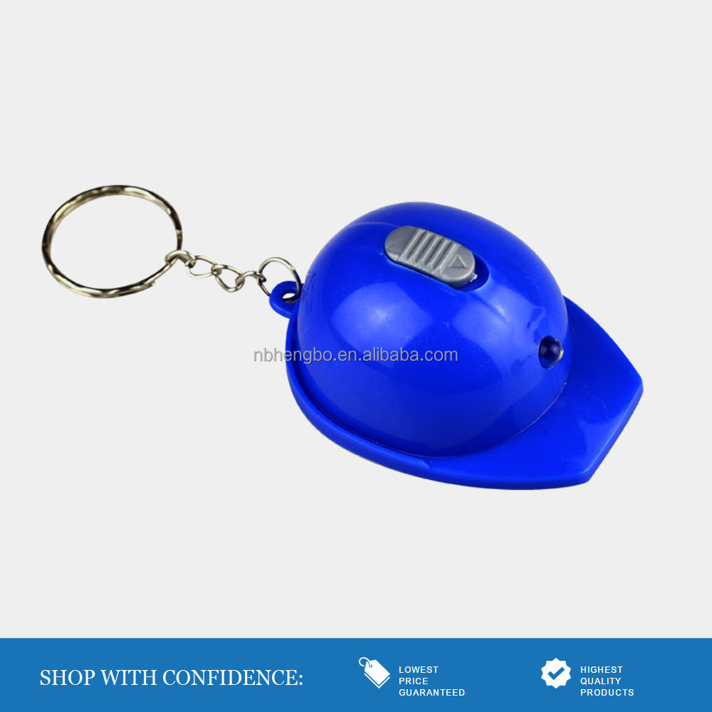 hot sale in US blue led helmet keychain with bottle opener