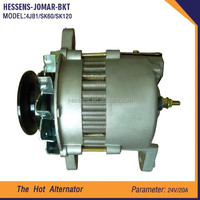 Wholesale construction machine alternator cross reference for SK60 SK120 4JB1