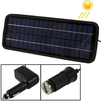 12V 4.5W Poly Silicon Solar Panel Car Battery Charger for Cars / Trucks / Boat / Motorcycle , Support USB 2.0 Plug