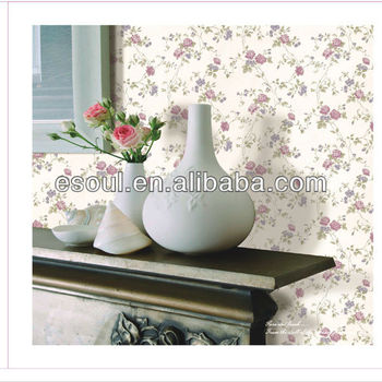 Bedroom decoration rose flower PVC wallpaper