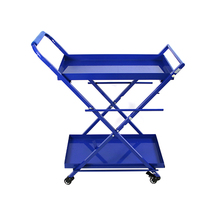 Blue kitchen tool shipping trolley cart display rack