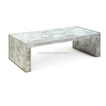 Wholesale unique design exotic rectangle marble/granite top coffee table