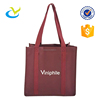 Reusable durable 6 bottles wine foldable recyclable nonwoven bag