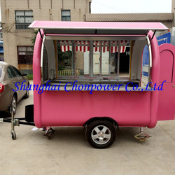 CP-A230165230 frying pan BBQ food vending kiosk juice coffee drink kiosk noodles boiler bun steamer food booth