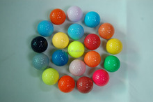 Promotional Colorful Mini Golf Balls Golf Practice training Balls with packing