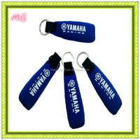 2014 fashion blue float neoprene key chain