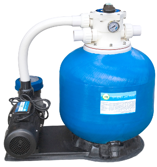 Guangzhou factory supply swimming pool sand filter and pump