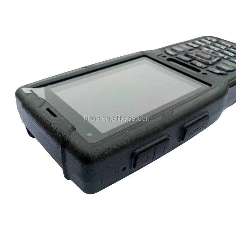 Cheapest factory 3.2 inch rugged android handheld terminal with barcode scanner RS232