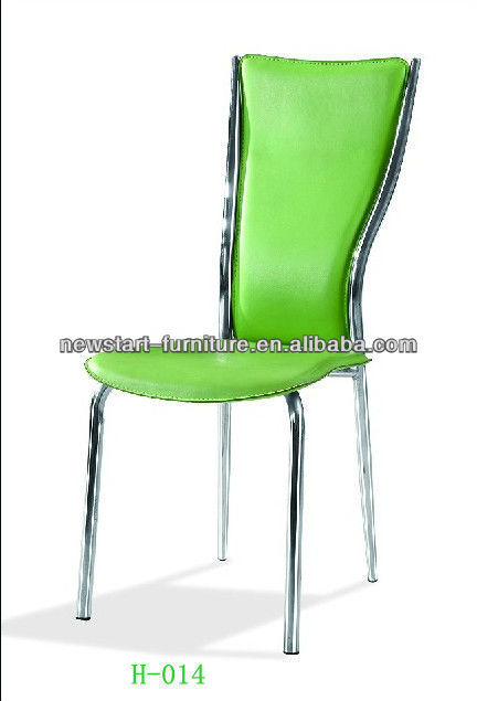 Green color pu leather and metal Dining Chair