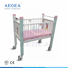 AG-CB004 Cheap price metal carton pattern pediatric department infant hospital bed for sale
