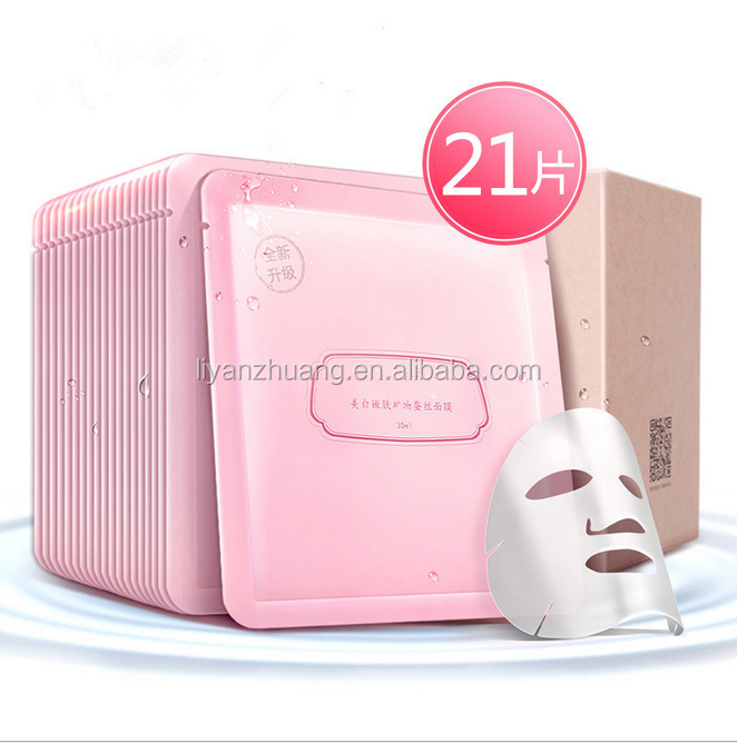 Smaller pores skin hydrating controing oil face mask Rose silk facial mask sheet wholesale