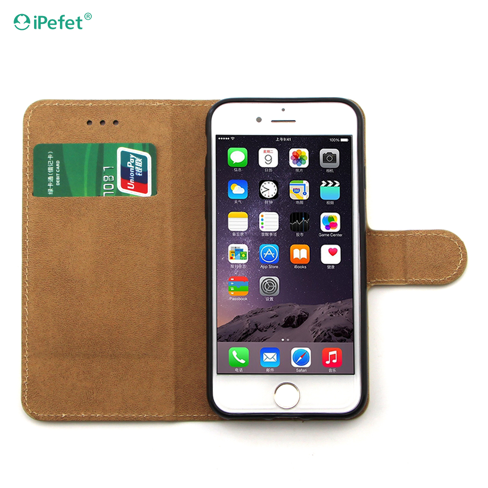 iPefet- Heavy Duty Dual Layer Leather +PC phone case for iPhone 7