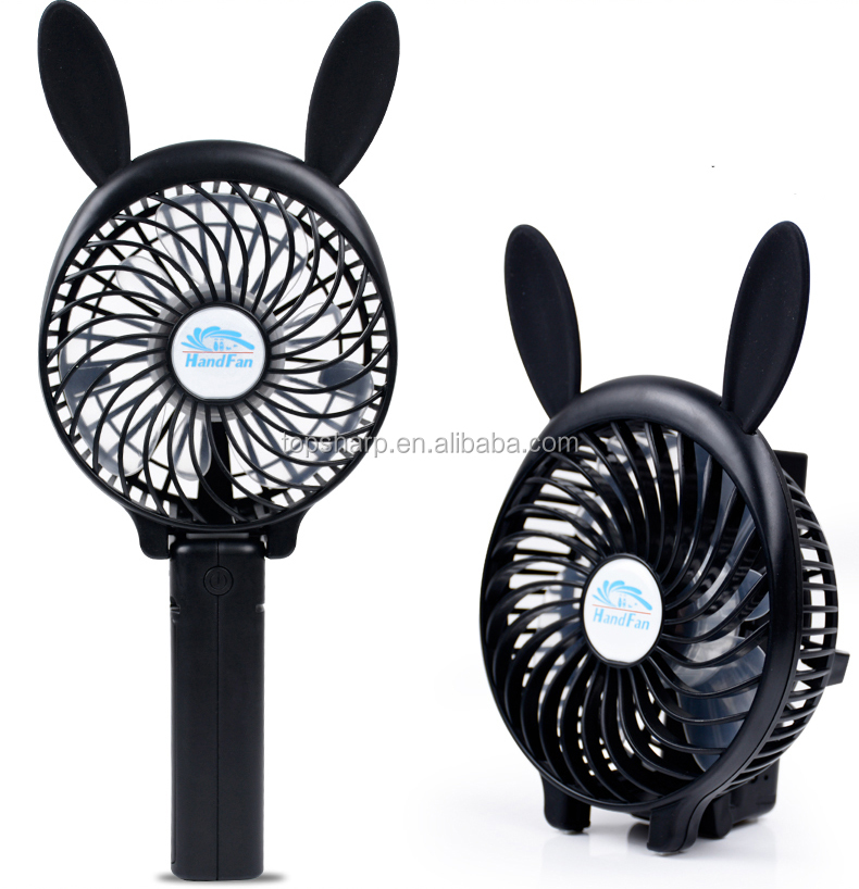 Customizable Battery Powered Usb Mini Fans Cartoon For Travelling