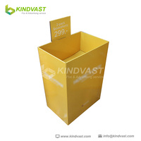 shopping mall yellow display stand/customized food display counter