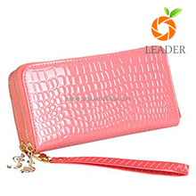 Long Type European Top Grain Leather Wallet for Women