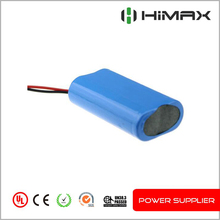 High capacity rechargeable 18650 li-ion battery pack 2s1p 7.4v 3400mah lithium battery