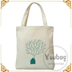 Hot selling printed cotton on cross scratch tote