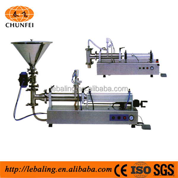 Semi Auto Dual Nozzle Cosmetic Shampoo & Cream Lotion Filling Machine