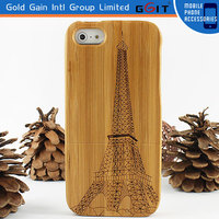Carbonized Bamboo Carving Wooden Case For iPhone 5G, Carving Wooden Case Back Cover For iPhone 5G