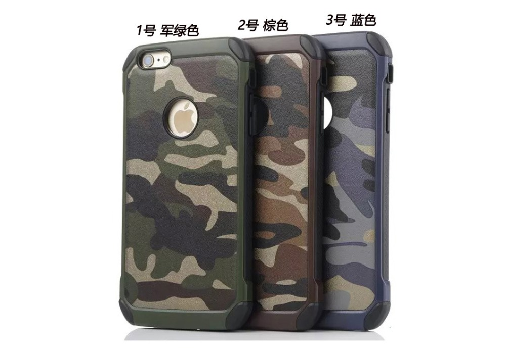 2017 China supplier high quality Army Colors Camouflage Hybrid PC TPU mobile phone Cover Back Armor Case For iphone 6 plus