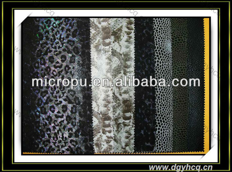 New style microfiber printed leather microfiber Embroider design printed leather synthetic faux leather for bags