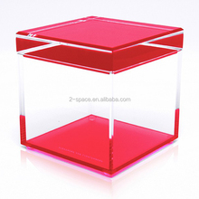 Multifunctional Perspex Colored Cube Assorted Colors Acrylic Cubic Treasure Box